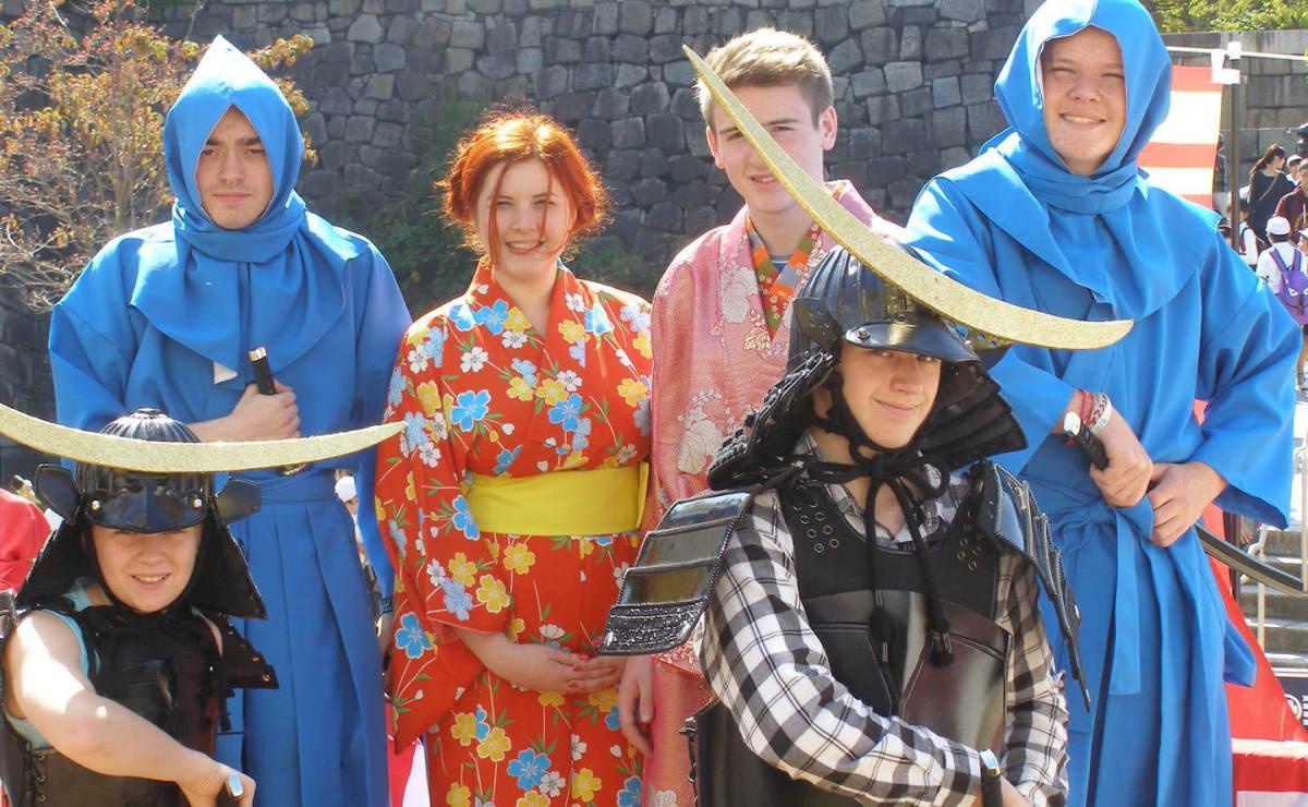 Explorers get into costume in Osaka, Japan